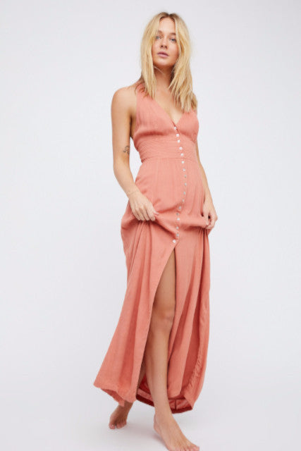 Beautiful Dreams Halter Dress