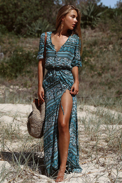 BLUE SUMMER DAYS MAXI DRESS