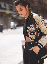 Embroidered Jacket, Round Neck, Floral Jacket, Jacket