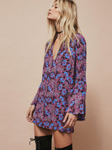 Bohemian Flare Sleeve Dress