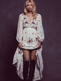 Criss Cross Sweet Floral Dress