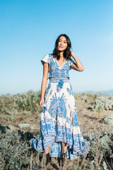 Porcelain Birds of Paradise Beach Dress