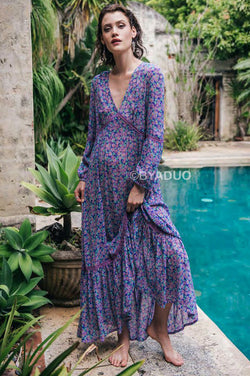 AS YOU FALL MAXI DRESS