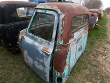 Rusted Bright Teal 3 Window Chevy Cab