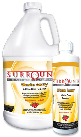 Surround Waste Away – enzymatic cleaner & deodorizer for Urine odor removal, Cranberry Ice scent