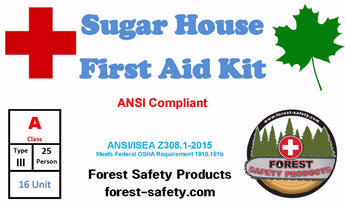 Maple Syrup Sugar house First Aid Kit