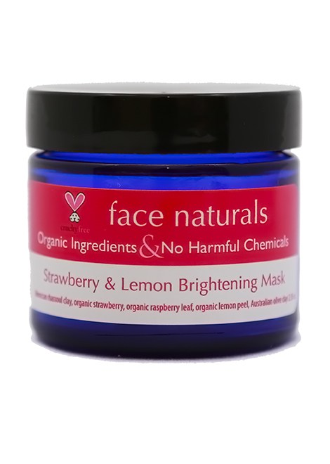 Strawberry and Lemon Peel Brightening Mask