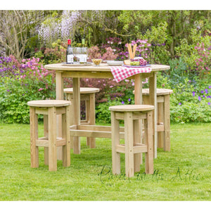 Parcel in the Attic Tenerife Oval Garden Furniture Table & 4 Stool Set