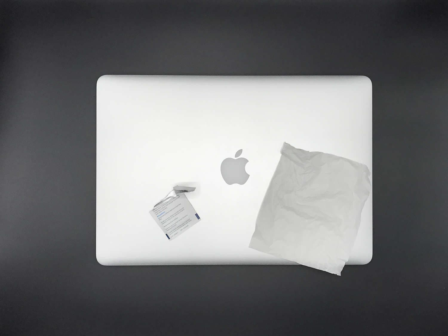 MacBook Pro Retina 15-inch and a cleaning cloth