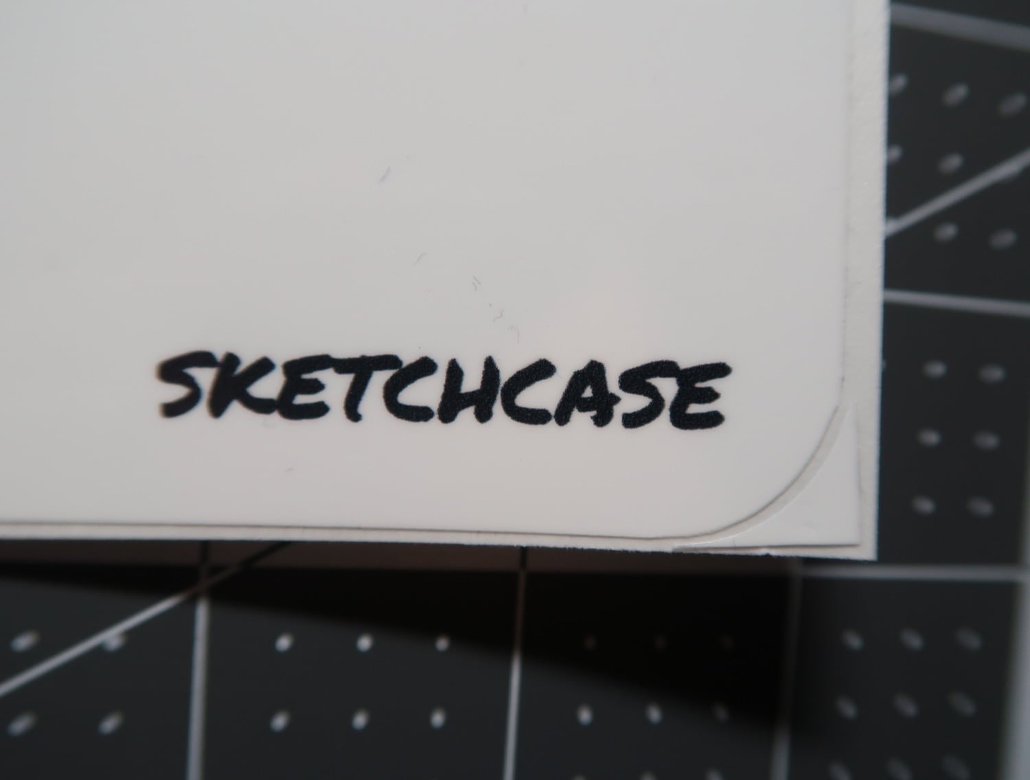 Cut corner of Sketchcase whiteboard cover