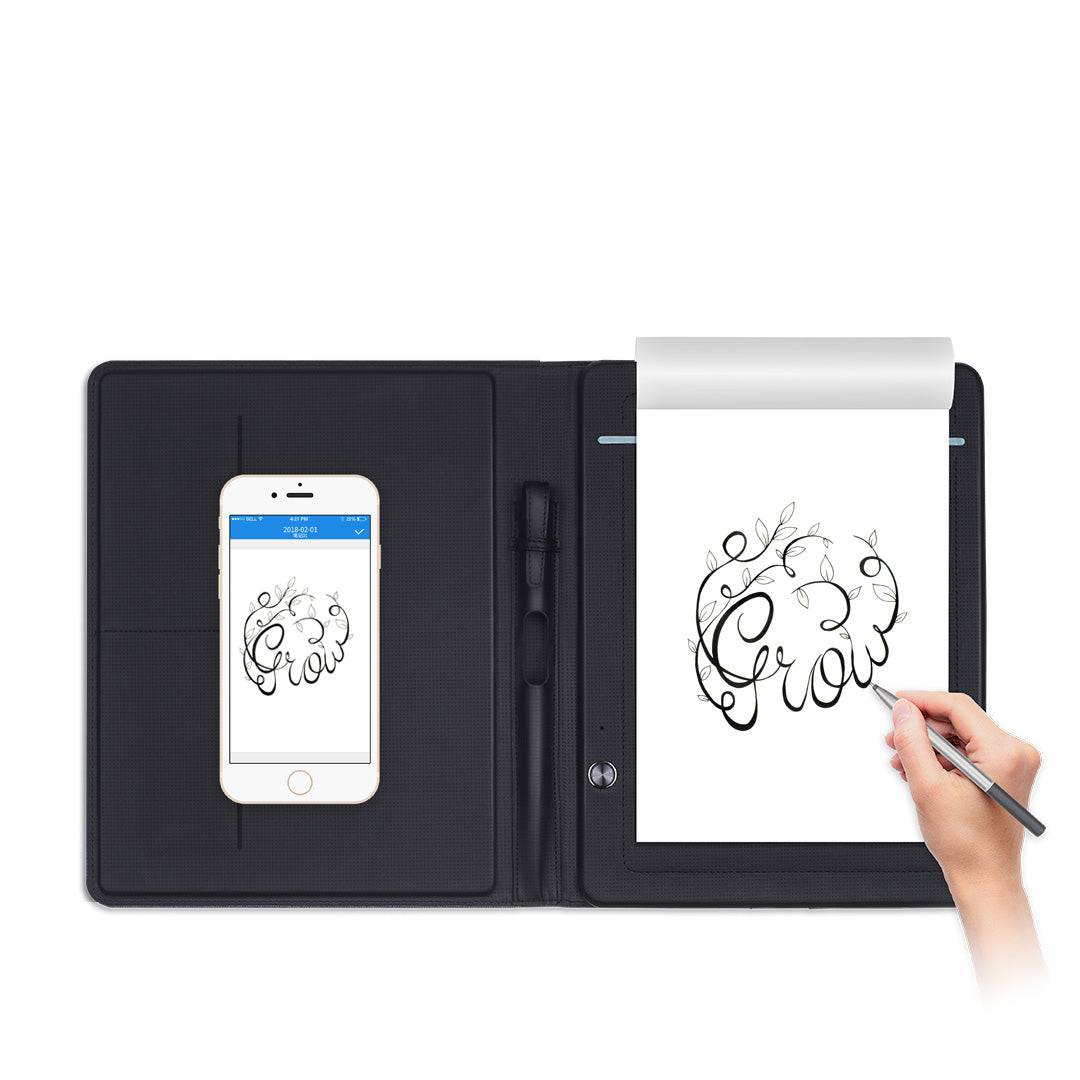 Smart writing pad compatible with iOS/Android smartphones & tablets