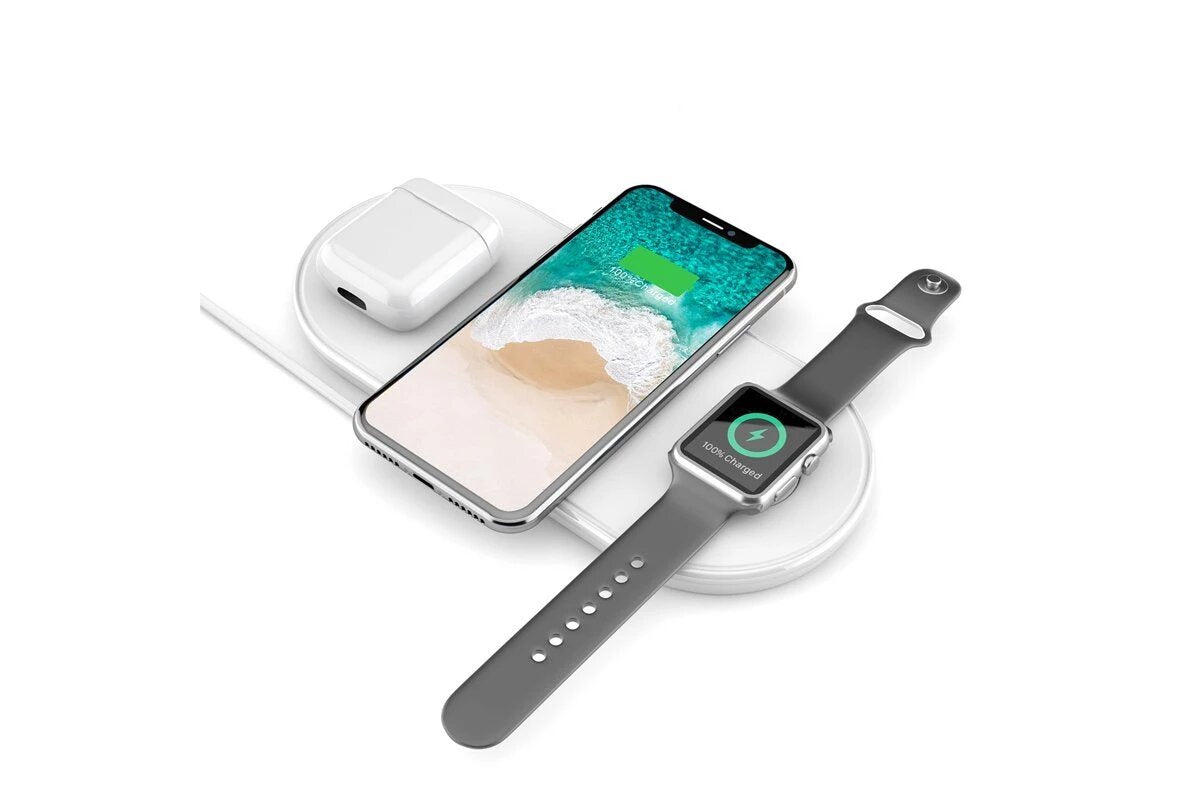 Plux Wireless Charger for iPhone Apple Watch & AirPods