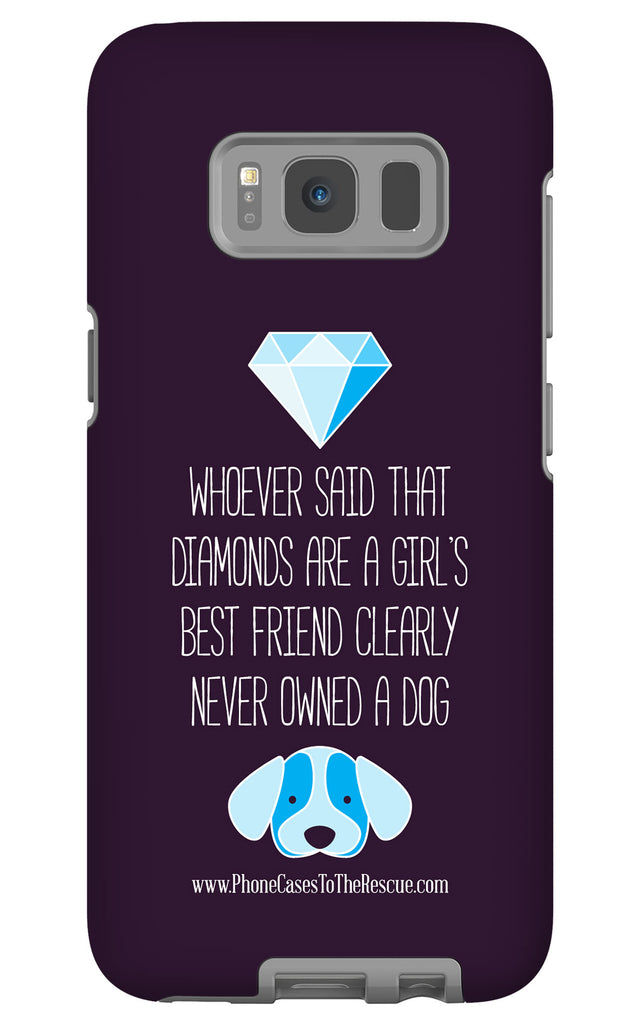 Samsung Galaxy S8 Diamonds Are a Girl's Best Friend Phone Case with Tough Rugged Protection
