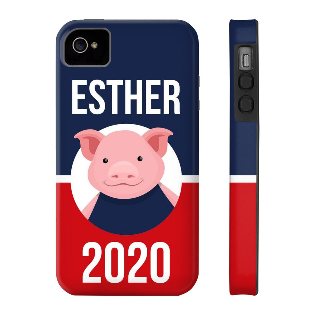 iPhone 4/4s Esther 2020 Patriotic Phone Case with Tough Rugged Protection