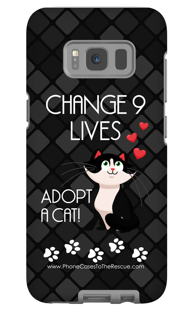 Samsung Galaxy S8 Plus Change 9 Lives Cat Phone Case with Tough Rugged Protection