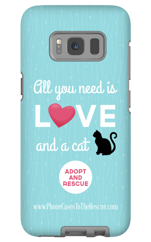 Samsung Galaxy S8 Cute Black Cat Phone Case with Tough Rugged Protection