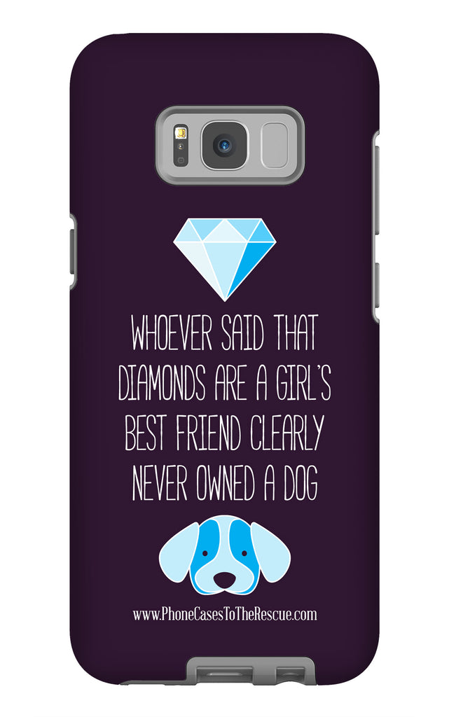 Samsung Galaxy S8 Plus Diamonds Are a Girl's Best Friend Phone Case with Tough Rugged Protection