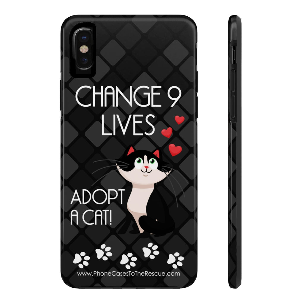 iPhone X Change Nine Lives Phone Case with Tough Rugged Protection