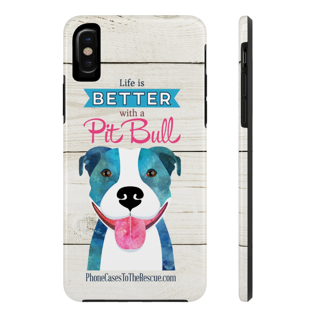 iPhone X Pit Bull Love Phone Case with Tough Rugged Protection