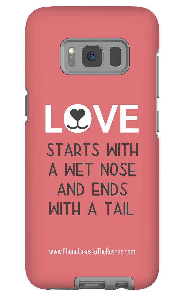 Samsung Galaxy S8 Where Love Starts Phone Case with Tough Rugged Protection