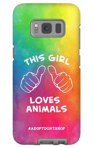 Samsung Galaxy S8 For the Love of Animals Phone Case with Tough Rugged Protection