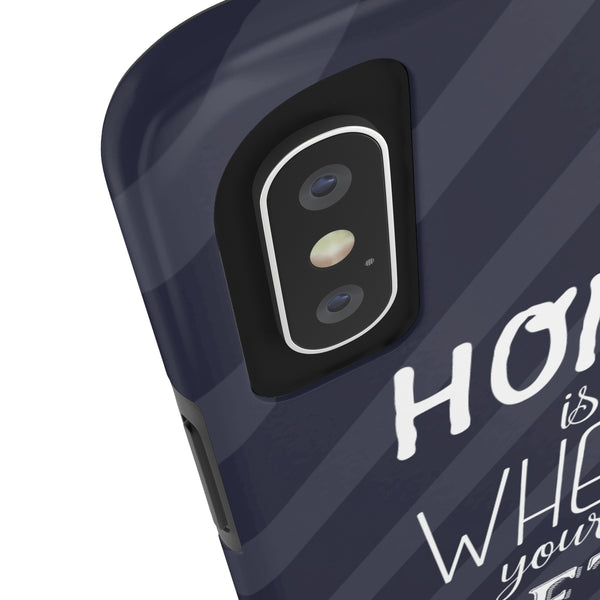 iPhone X Home Is Where (grey) Phone Case with Tough Rugged Protection