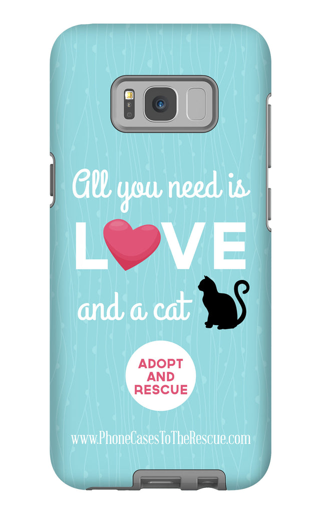 Samsung Galaxy S8 Plus Cute Black Cat Phone Case with Tough Rugged Protection