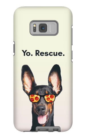 Samsung Galaxy S8 Plus Yo Rescue Pizza Dog Phone Case with Tough Rugged Protection