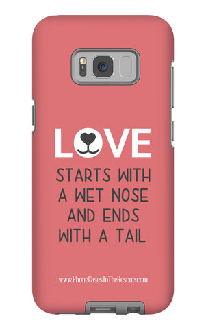 Samsung Galaxy S8 Plus Where Love Starts Phone Case with Tough Rugged Protection
