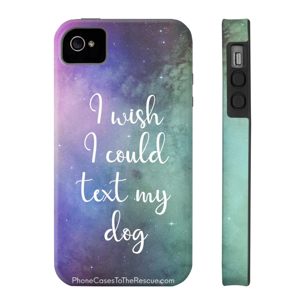 iPhone 4/4s Text My Dog Phone Case with Tough Rugged Protection
