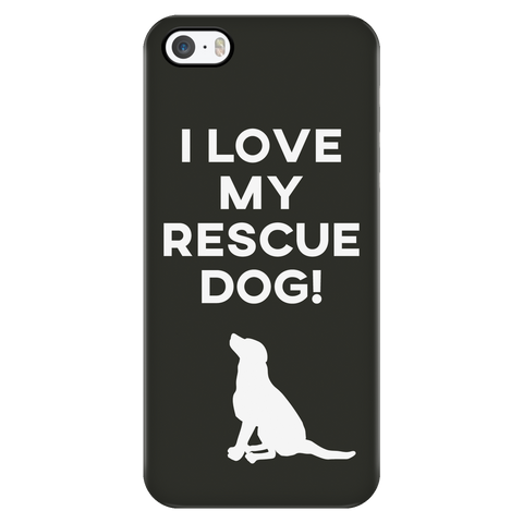 iPhone 5/5s I Love My Rescue Dog Phone Case with Ultra Slim Durable Profile