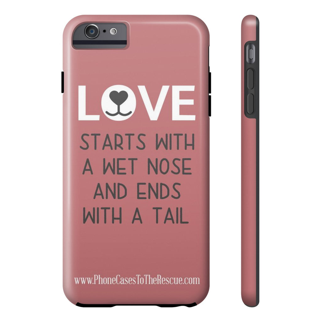 iPhone 6/6s Plus Where Love Starts Phone Case with Tough Rugged Protection