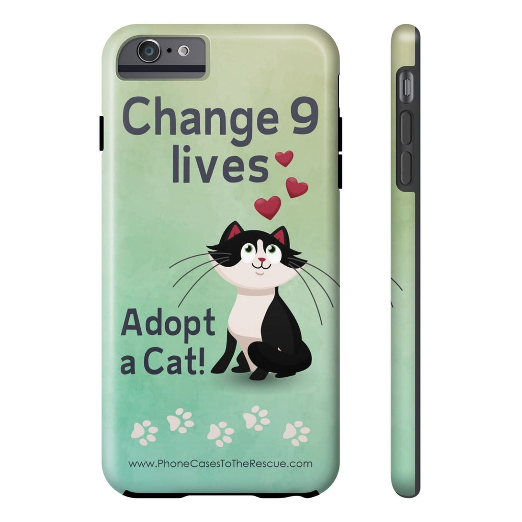 iPhone 6/6s Plus Change 9 Lives Cat Phone Case with Tough Rugged Protection