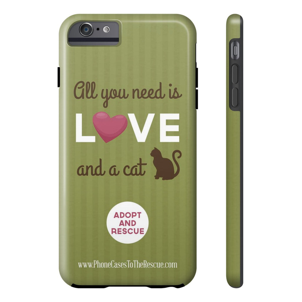 iPhone 6/6s Plus Cute Brown Cat Phone Case with Tough Rugged Protection
