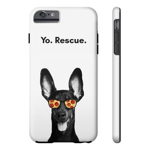 iPhone 6/6s Plus Yo Rescue Pizza Dog Phone Case with Tough Rugged Protection