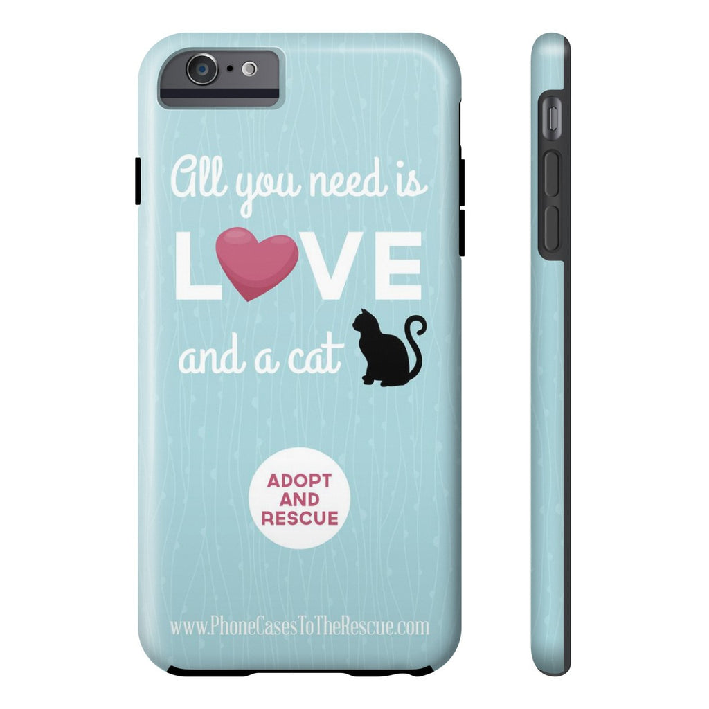 iPhone 6/6s Plus Cute Black Cat Phone Case with Tough Rugged Protection