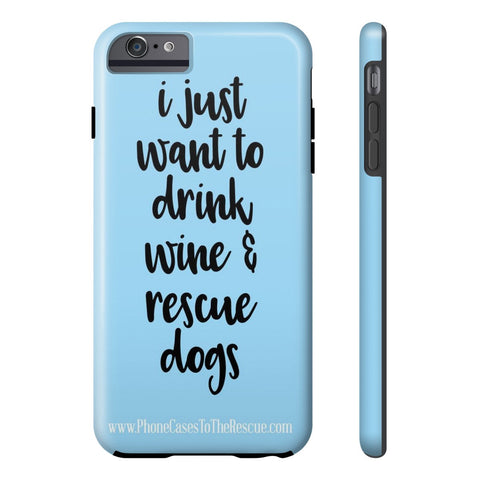 iPhone 6/6s Plus Rescue Dogs Phone Case with Tough Rugged Protection