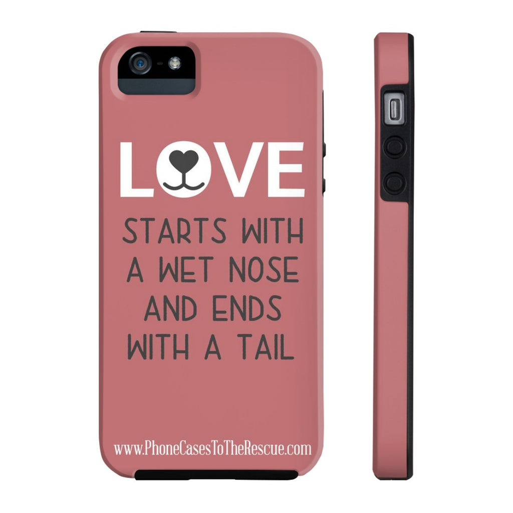 iPhone 5/5s/5se Where Love Starts Phone Case with Tough Rugged Protection