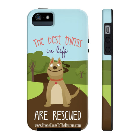 iPhone 5/5s/5se The Best Things in Life Phone Case with Tough Rugged Protection