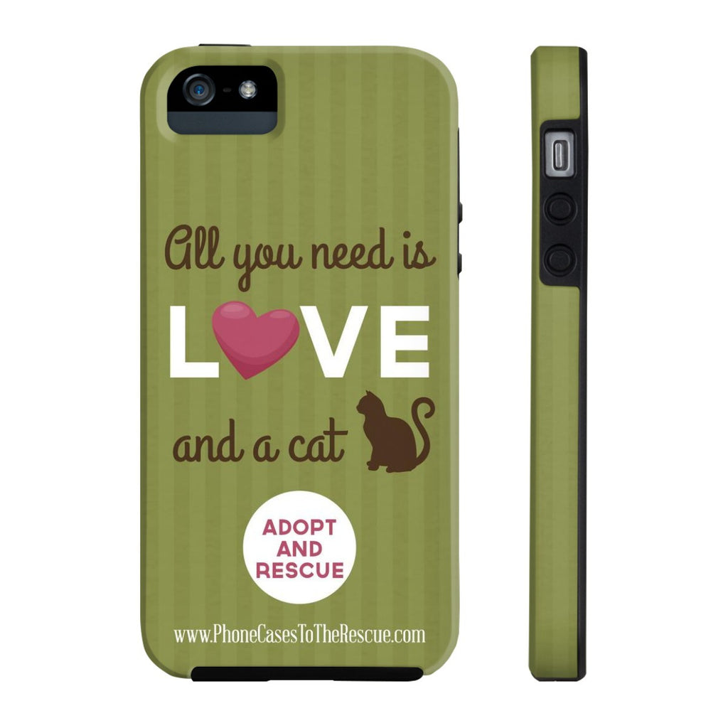 iPhone 5/5s/5se Cute Brown Cat Phone Case with Tough Rugged Protection