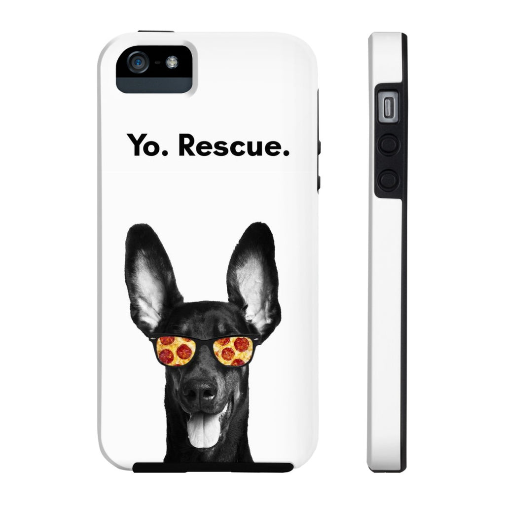 iPhone 5/5s/5se Yo Rescue Pizza Dog Phone Case with Tough Rugged Protection