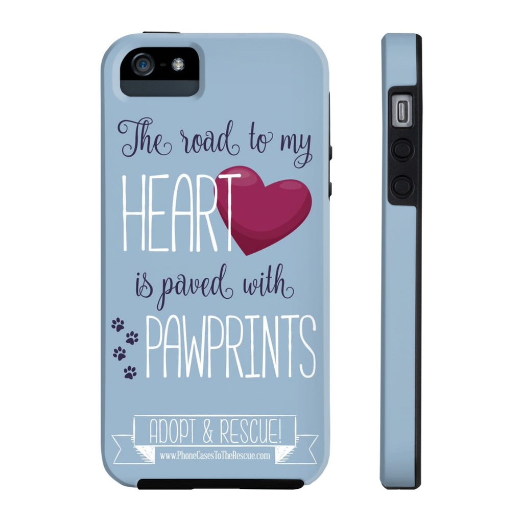 iPhone 5/5s/5se Paved with Pawprints Phone Case with Tough Rugged Protection