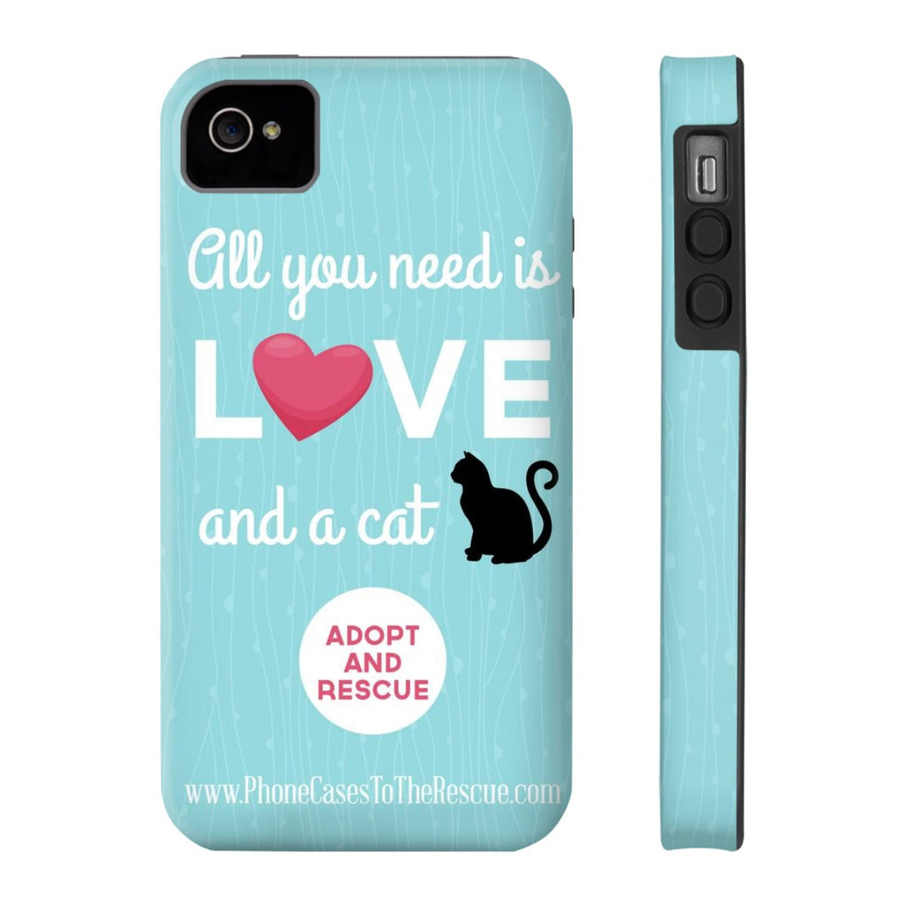 iPhone 4/4s Cute Black Cat Phone Case with Tough Rugged Protection