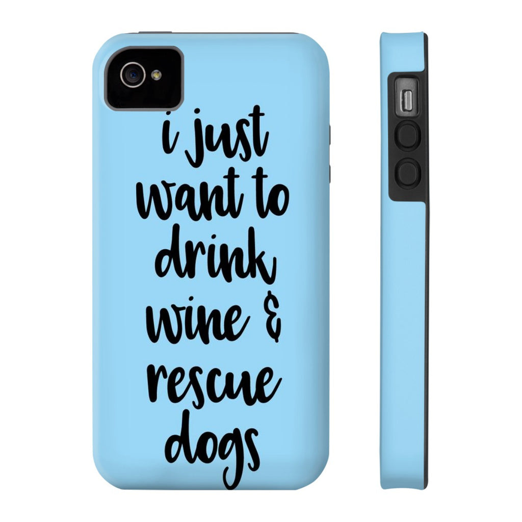 iPhone 4/4s Rescue Dogs Phone Case with Tough Rugged Protection