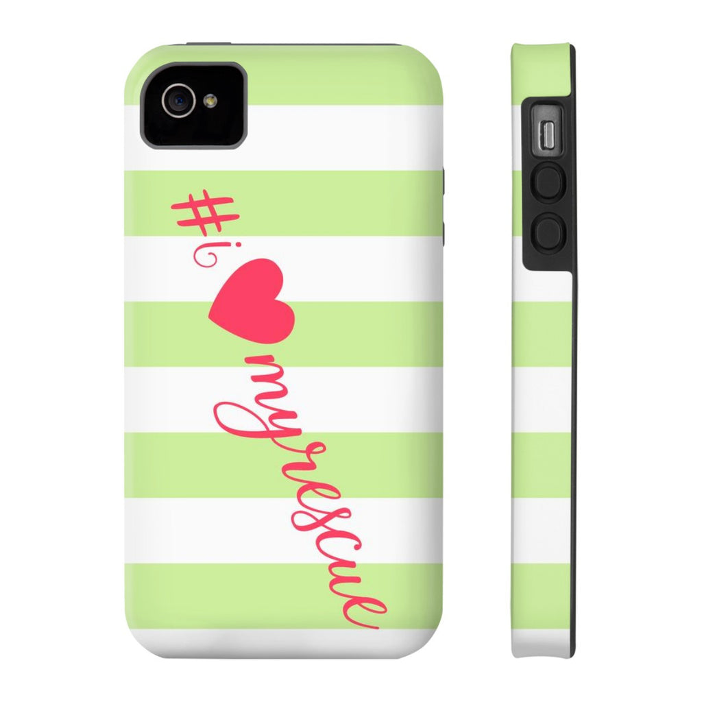 iPhone 4/4s I Love My Rescue Phone Case with Tough Rugged Protection