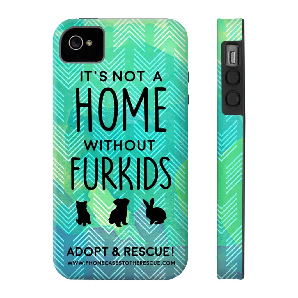 iPhone 4/4s For the Love of Fur Babies Phone Case with Tough Rugged Protection