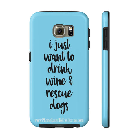 Samsung Galaxy S6 Rescue Dogs Phone Case with Tough Rugged Protection