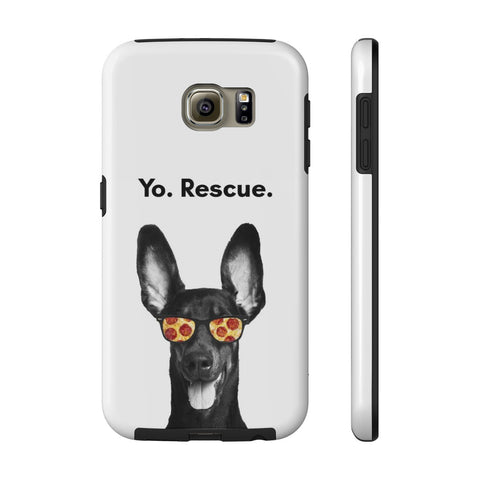 Samsung Galaxy S6 Yo Rescue Pizza Dog Phone Case with Tough Rugged Protection