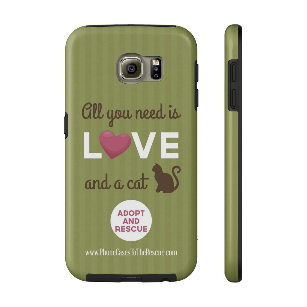 Samsung Galaxy S6 Cute Brown Cat Phone Case with Tough Rugged Protection