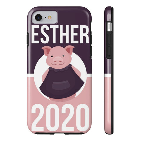 iPhone 7 Esther 2020 Pink and Purple Phone Case with Tough Rugged Protection